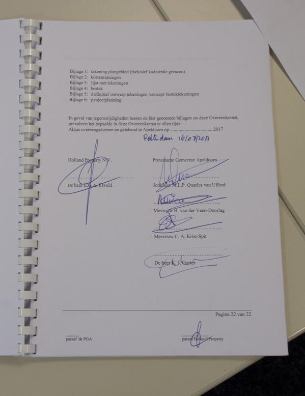 Getekend contract